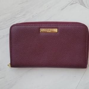 Adrienne Vittadini Leather Wallet (Maroon)